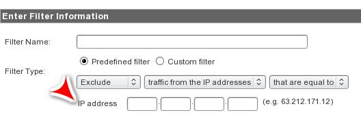 IP Predefined Filter
