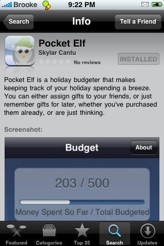 Pocket Elf iPhone App