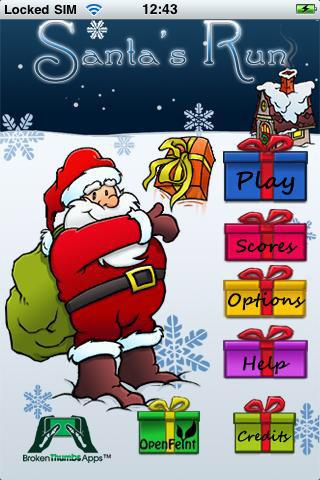 Santa Run iPhone App