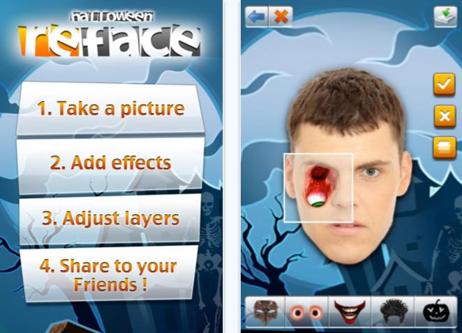 Reface halloween iPhone app