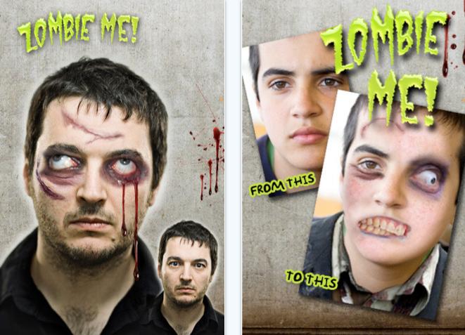 Zombie me iPhone app