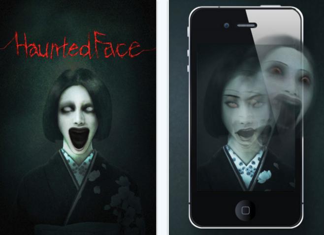 haunted face iPhone app