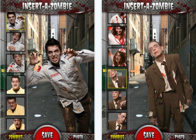 insert a zombie iphone app