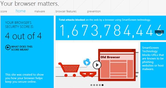your browser matters screenshot