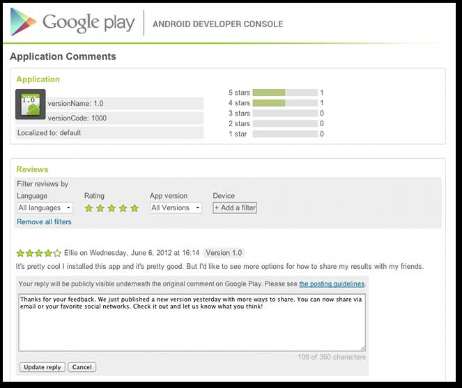 Google Play app developer