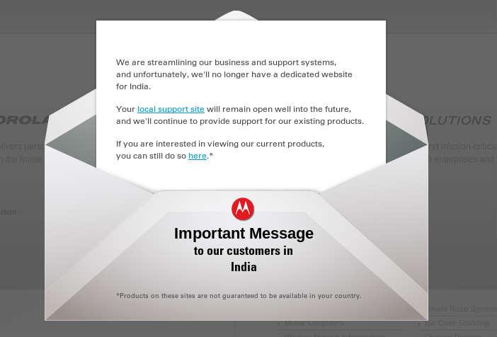 Motorola Mobility Shutdown