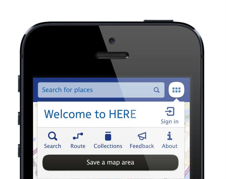 Nokia's HERE maps app