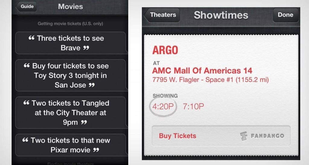 Siri can buy movie tickets next iOS