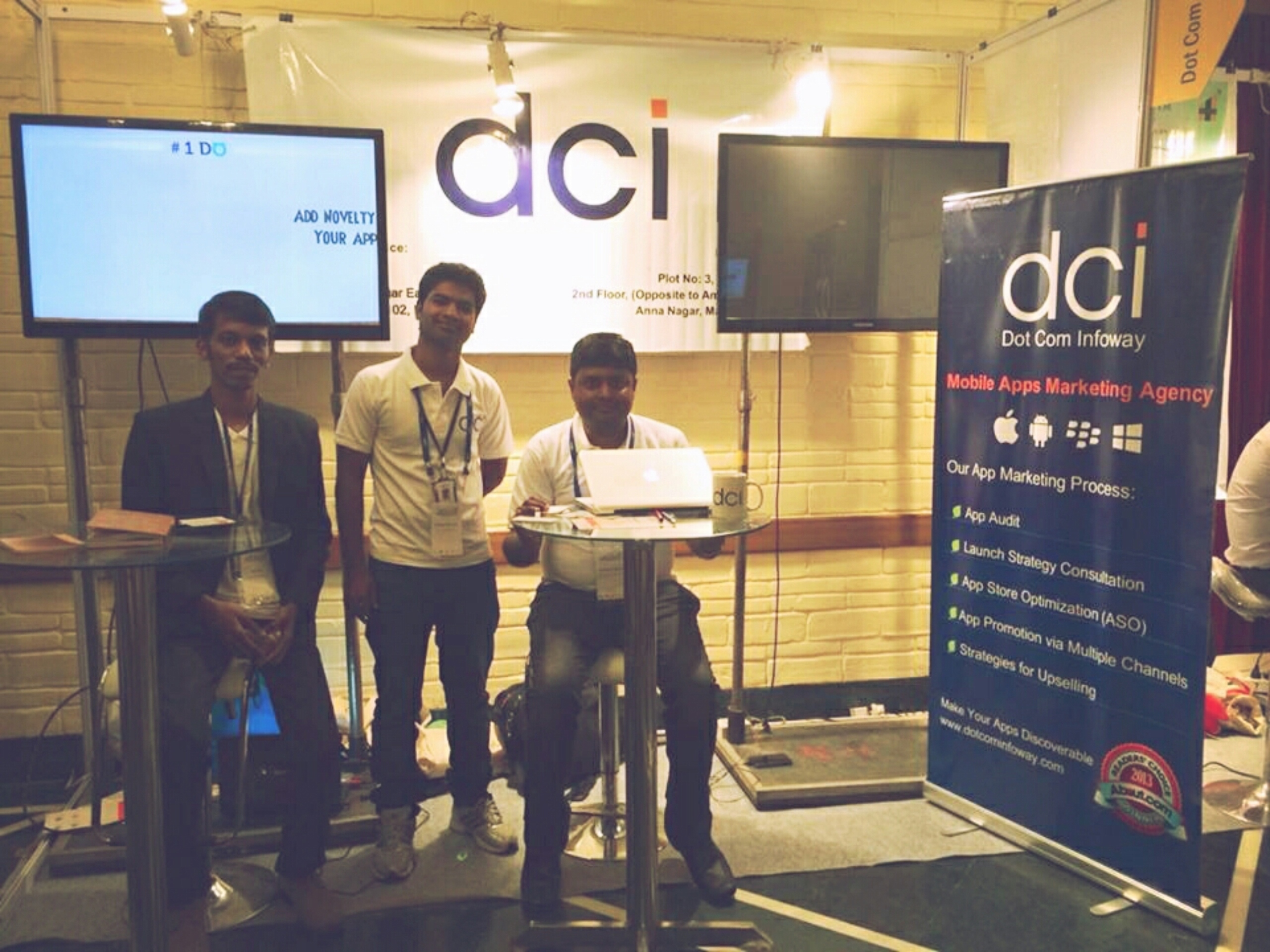Our Exhibition Stall in mBillionth – Dot Com Infoway