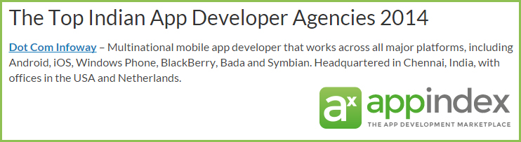 Appindex Top Indian Developer Agencies