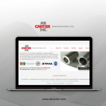A.B. Carter, Inc Web Development Portfolio