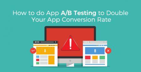 App A-B testing